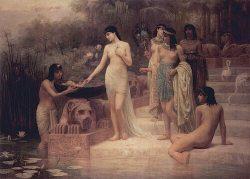 Нахождение Моисея дочерью фараона (Edwin Long, 1886, Бристольский музей)