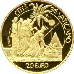 20 евро, Ватикан (Рождение Моисея)
