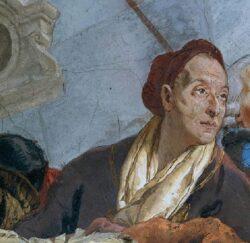 Джованни Баттиста Тьеполо. «Автопортрет» (фрагмент фрески в Вюрцбургской резиденции, 1752-1753)