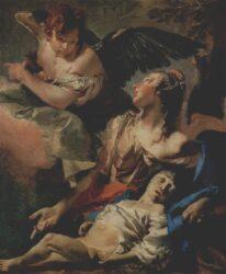 Картина Тьеполо «Агарь и Измаил в пустыне» (1732г., Скуола Сан-Рокко, Венеция)