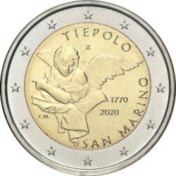2 евро, Сан-Марино (250 лет со дня смерти Джованни Баттиста Тьеполо)