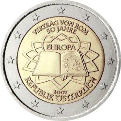 2 евро, Австрия (50-летие подписания Римского договора)
