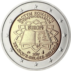 2 евро, Бельгия (50-летие подписания Римского договора)