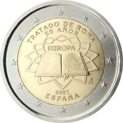 2 евро, Испания (Римский договор)