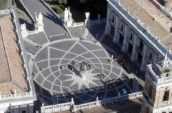 Капитолийская площадь, вид сверху