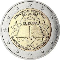 2 евро, Германия (50-летие подписания Римского договора)
