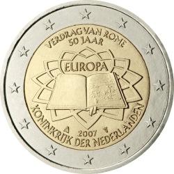 2 евро, Нидерланды (50-летие подписания Римского договора)