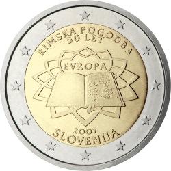 2 евро, Словения (50-летие подписания Римского договора)