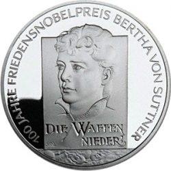 10 евро, Германия (Берта фон Зутнер)