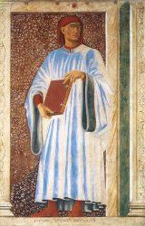 Джованни Боккаччо (фреска на вилле Кардуччо, сегодня хранится в галерее Уффици, Андреа дель Кастаньо, ок. 1450 г.)