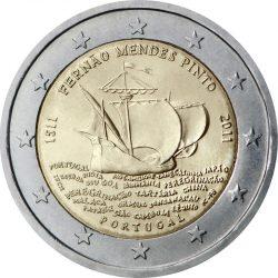 2 евро, Португалия (500 лет со дня рождения Фернана Мендиша Пинту)
