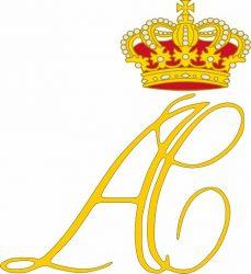 Двойной вензель Князя Монако Альбера II и Княгини Шарлен Уиттсток