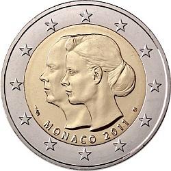 2 евро, Монако (Свадьба Князя Монако Альбера II и Шарлин Уиттсток)