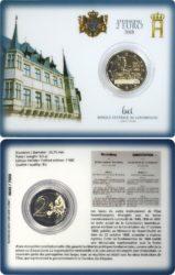 Luxemburg 2 euro 2018 coincard Constitution