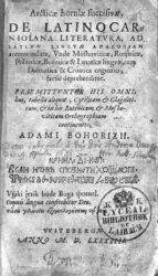 Articae horulae succisivae de Latino carniolana literatura (1584)