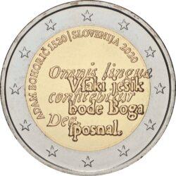 2 евро, Словения (500 лет со дня рождения Адама Бохорича)