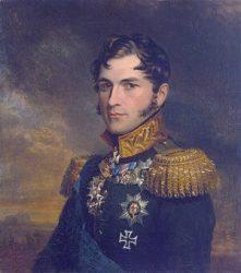 Принц Леопольд в форме русского генерала (Джорджа Доу, 1823. Военная галерея Зимнего Дворца в Эрмитаже, Санкт-Петербург)