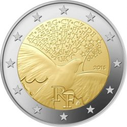 2 евро, Франция (70 лет мира в Европе)