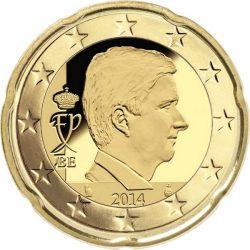 20 евроцентов, Бельгия (тип 4)