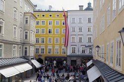 Дом на Getreidegasse, 9 в Зальцбурге в котором родился великий композитор.