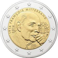 2 евро, Франция (100 лет со дня рождения Франсуа Миттерана)