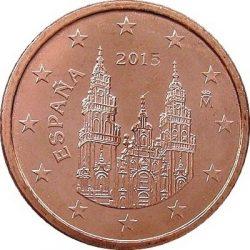 1 евроцент, Испания (тип 3)