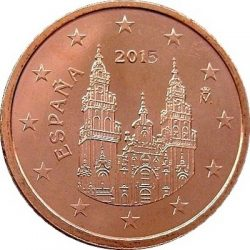 2 евроцента, Испания (тип 3)