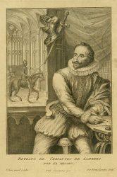 Портрет Мигеля де Сервантеса из английского издания «Дон Кихота» 1742 года