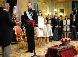 Новый король Испании Филипп VI на церемонии приведения к присяге, 19 июня 2014 г.