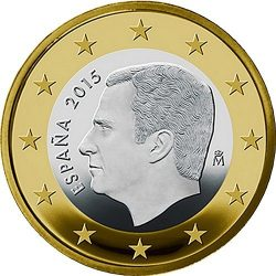 1 евро, Испания (тип 3)