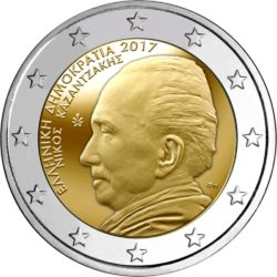 2 евро, Греция (60 лет со дня смерти Никоса Казандзакиса)