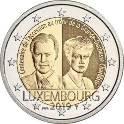 2 евро, Люксембург (100-летие вступления на престол Великой Герцогини Люксембурга Шарлотты)