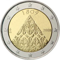 2 евро, Финляндия (200-летие финской автономии и сейма в Порвоо)