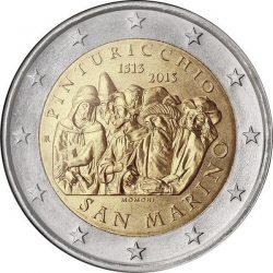 2 евро, Сан-Марино (500 лет со смерти художника Пинтуриккьо)