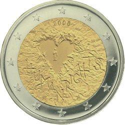 2 евро, Финляндия (60-летие принятия Всеобщей декларации прав человека)