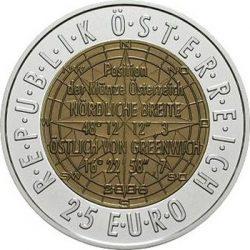 25 евро, Австрия (Европейская спутниковая навигация)