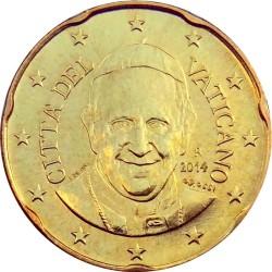 20 евроцентов, Ватикан (тип 4)