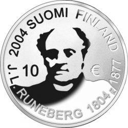 10 евро, Финляндия (200 лет со дня рождения Йохана Рунеберга)