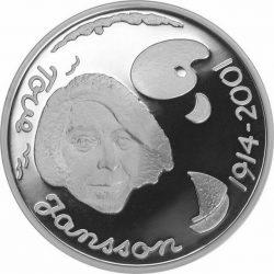 10 евро, Финляндия (90 лет со дня рождения Туве Янсон)