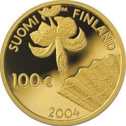 100 евро, Финляндия (150 лет Альберта Эдельфельта)