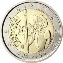 2 евро, Испания (Дон Кихот)