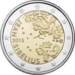 2 евро, Финляндия (150 лет со дня рождения Яна Сибелиуса)