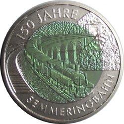 25 евро, Австрия (150 лет железной дороге Земмеринг)