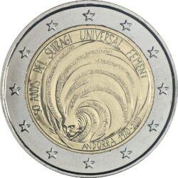 2 евро, Андорра (50 лет всеобщего избирательного права женщин в Андорре)