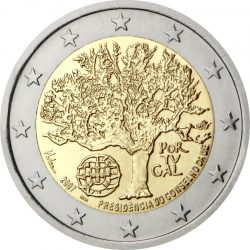 2 евро, Португалия (Председательство Португалии в Совете Европейского союза)