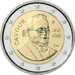 2 евро, Италия (200 лет со дня рождения Камилло Кавура)