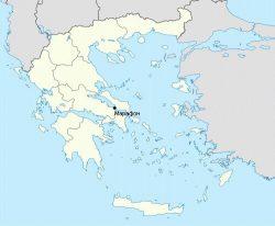 Марафон на карте Греции