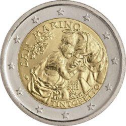 2 евро, Сан-Марино (500 лет со дня рождения Тинторетто)