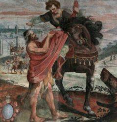 «Мартин Турский и нищий» (Джованни Баттиста Маколино, церковь Сагони, 1639)