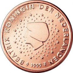 1 евроцент, Нидерланды (тип 1)